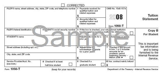 1098 tax information