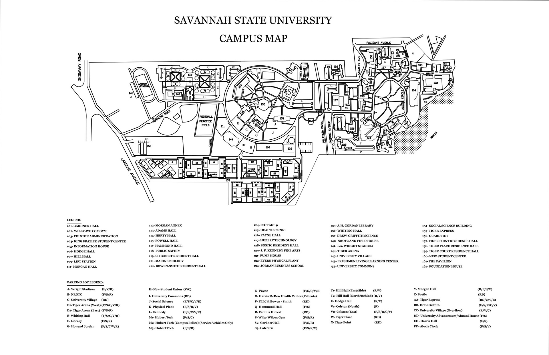 Savannah State University Map - Old savannags in us map