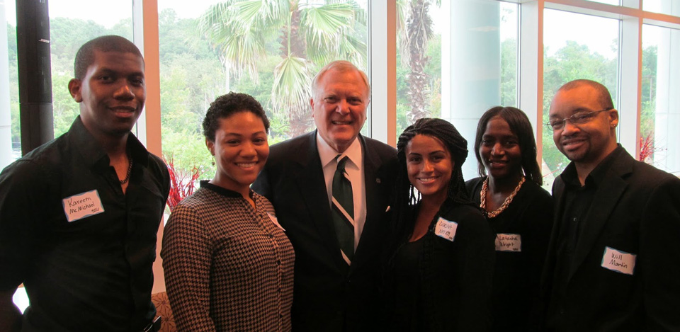 Savannah State University student media team w/ Georgia Governor Nathan Deal