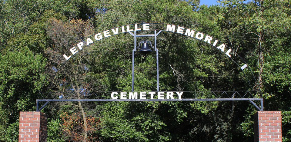 Restoration of Lepageville Memorial Cemetery gate arch.